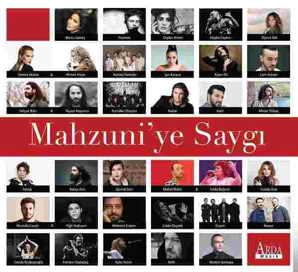 Mahzuni'ye Saygı (2017) albüm kapak resmi