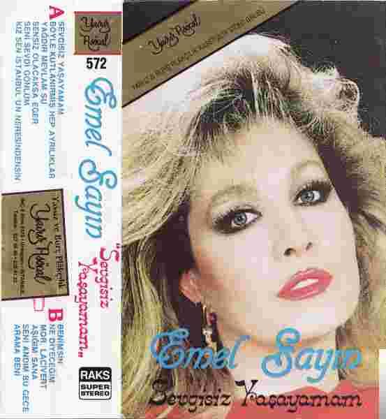 Sevgisiz Yaşayamam (1986) albüm kapak resmi