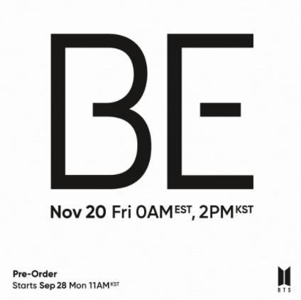 BE (2020) albüm kapak resmi